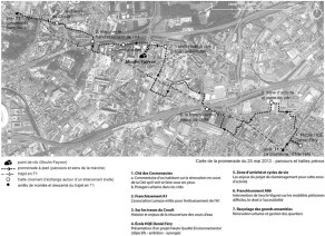 Promenade urbaine à la Courneuve Source : Atelier du grand Paris