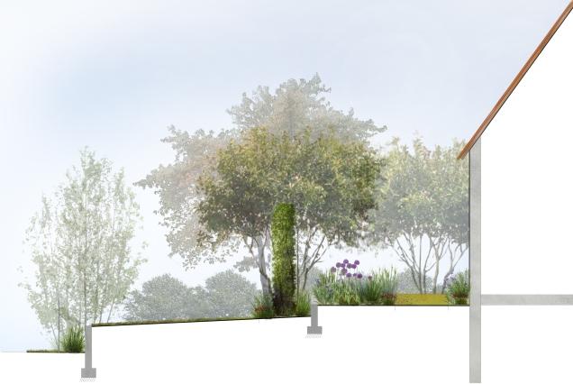 Projet Huttenheim - La terrasse et le solarium