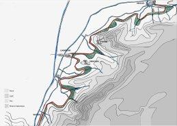 Plan d'intention de la digue allant de Bergues à Watten