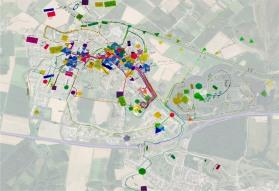 Superposition des cartographies sur fond aérien