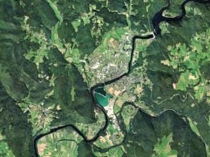 Vue aérienne d'Argentat, Corrèze