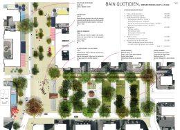 Plan projet de la place de la plage à Merville